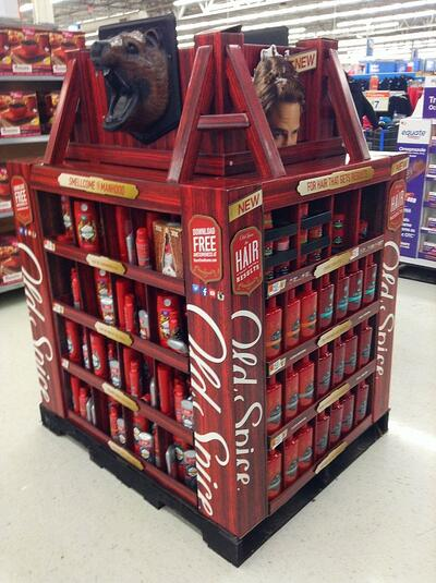 Old Spice POS display