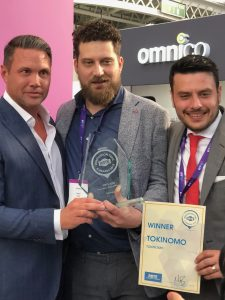 TOKINOMO WINS THE INNOVATION AWARD IN RBTE SHOW IN LONDON