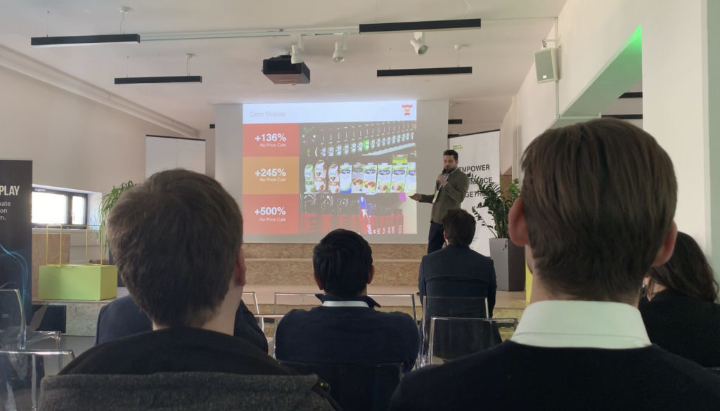 On stage at Retailtech Hub in Munich